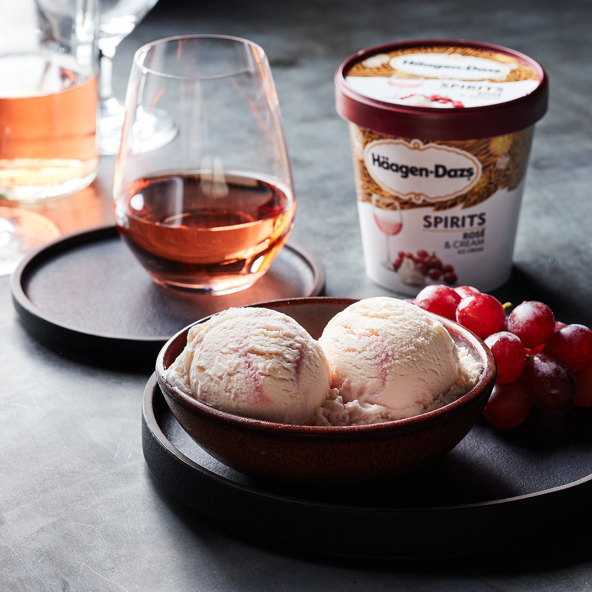 Haagen-Dazs Rose & Cream Ice Cream