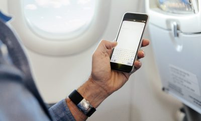 Using your phone on an airplane