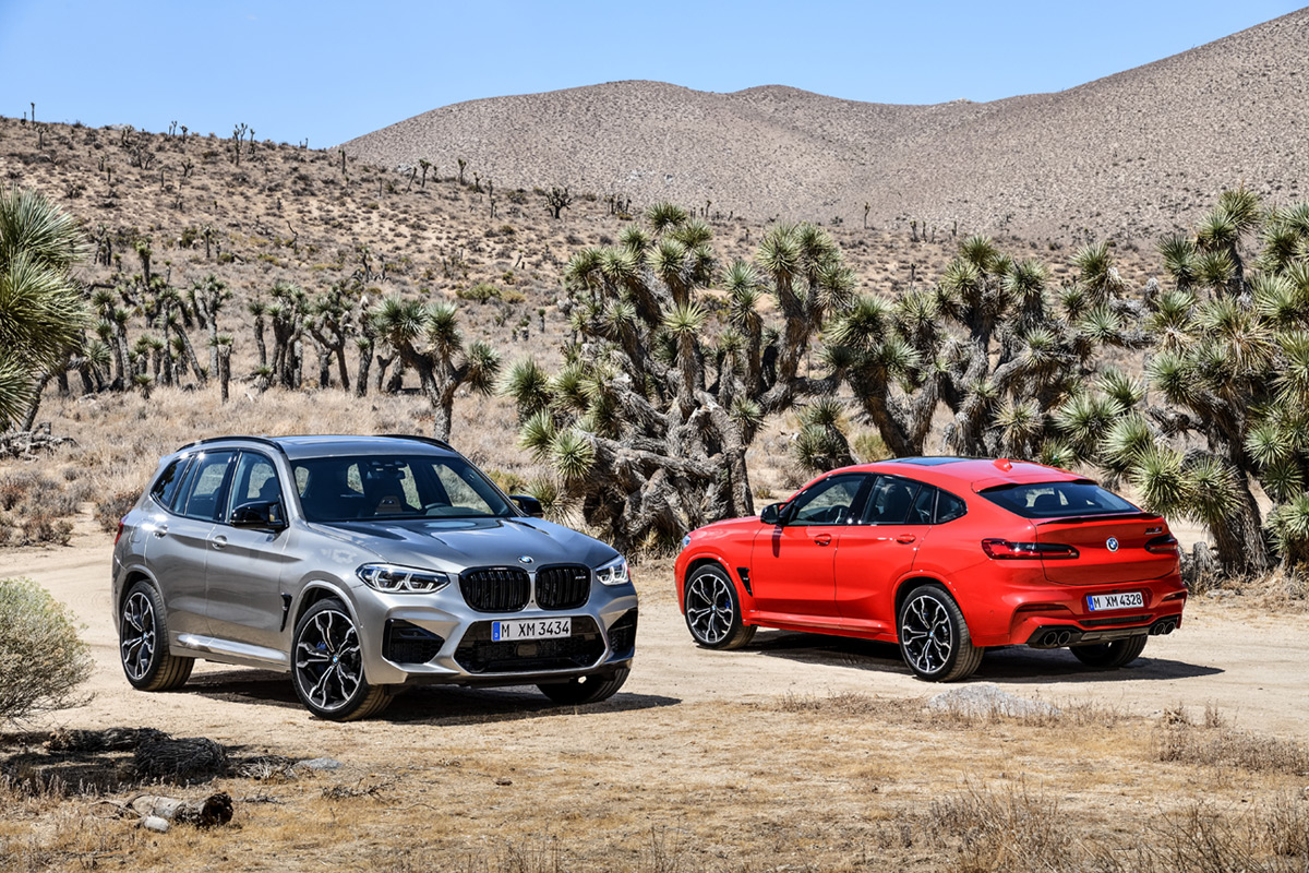 2020 BMW X3 M and 2020 BMW X4 M